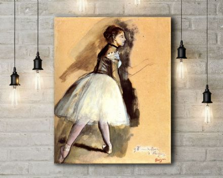 Edgar Degas: Dancer in a Ballet Position. Fine Art Canvas.